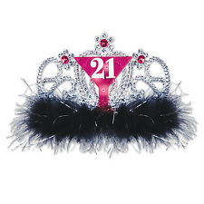 21st Birthday Party Novelty Accessory Plastic 21 Light Up Flashing TIARA CROWN