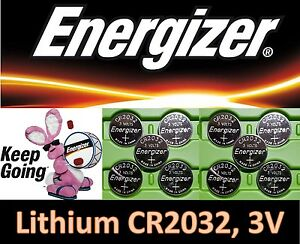 10 pieces Energizer CR2032 3v, Coin battery DL2032 *Fresh stock* Ships from USA