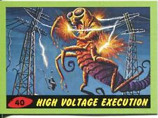 Mars Attacks Heritage Green Parallel Base Card #40    High Voltage Execution
