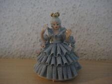 """(312) Alte Rebis Porzellan Figur """" Tänzerin mit Fächer """""""