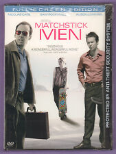 Matchstick Men Dvd Movie 2004 Full Screen Nicolas Cage Sam Rockwell New/Sealed