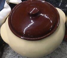 Vintage Matte WATT Pottery #76 Oven Wear USA Cookie Jar Bean Pot BISQUE & GLOSS