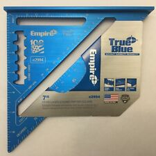 "EMPIRE TRUE BLUE 7"" e2994 RAFTER SQUARE speed square LASER ETCHED made in USA"