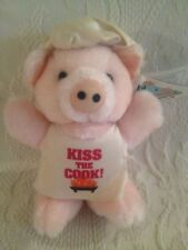 GANZ Pizzazz Kiss The Cook Pig With Tag Plush Stuffed 1992 Chef Apron