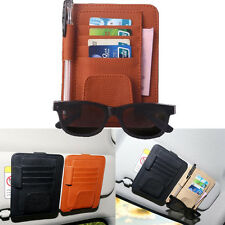 Car Auto Universal Sun Visor Glasses Sunglasses Card Ticket Holder Clip Multiuse
