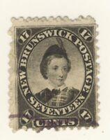 New Brunswick Stamp Scott # 11 17-Cents Prince W.  Used