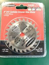 "4"" 24T Mini Table Circular Saw Blade long lasting carbide fits 4 in Mighty-Mite"