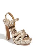 Sam Edelman TARYN Dorado Ante Plataformas Zapatos De Tacón 10 NEW