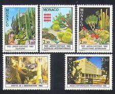 Mónaco 1983 Cactus/Cuevas/flores/Naturaleza/Cactus/museo/edificios/Gardens 5v n33519