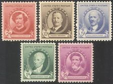 USA 1940 Famous Americans/Artists/People/Art/Paintings/Sculptors 5v set (n41370)