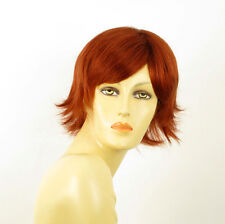 perruque femme 100% cheveux naturel courte cuivré intense ref JENNA 130