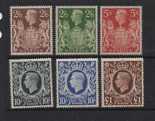 GB 1939 GVI HIGH VALUES SG476-478c MNH unmounted mint superb set 6 stamps