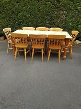6ft Farmhouse Dining Table And 8 Chairs