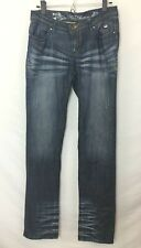 Apple Bottom Juniors Slim Dark Wash Jeans! Apple Detailed Pockets! Size 7/8 LOOK