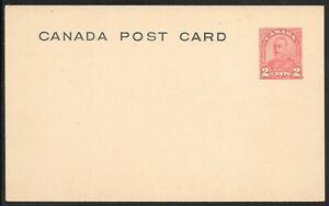 Canada Scott UX49a Webb P119 2-cent Red, Type 5, Die II Postal Card MINT VF