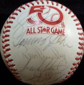 1979 AMERICAN LEAGUE ALL-STAR TEAM SIGNED GAME BASEBALL YAZ-RYAN-BRETT 29 TOTAL!