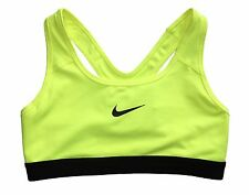 Nike Womens Pro Classic Medium Support Sports Bra Orange/Volt/Blue/Pink New