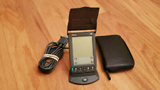 PalmOne Iiie Handheld with leather case and hotsync cradle