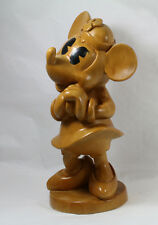 Rarest Disney Sculpture Ever Minnie Mouse Art Wood Figurine Kappy Co. Mickey 80s