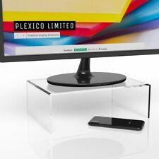 Clear Monitor Stand / Monitor Riser / Display Screen Riser W/D/H 300 x 200 x 75