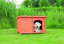 Trixie natura Hundehütte Classic mit Flachdach M-L: 104 × 72 × 68 cm braun