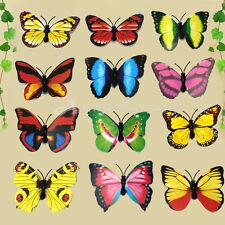 12 Calamite per Frigo Magneti 3D Farfalla Vari Colori Vivaci Decorazione Cucina