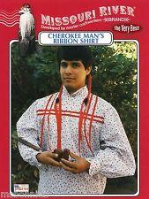 Missouri River Cherokee Indian Man's Ribbon Shirt Sewing Pattern size S-XXL