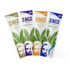 ZIG ZAG ZAGZ Organic Wrap Variety Pack 12 Pouches, 2 Per Pouch - 24 Wraps Total