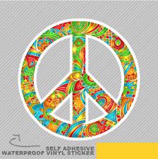 Colourful DOODLE Peace Sign ORNAMEN Vinyle Sticker Décalque Window Car Van Bike 2785