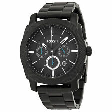 Fossil FS4552 Black Dial Stainless Steel Strap Analog Mens Chronograph Watch