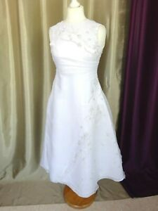 Robe de mariée vintage Dentelle rose L Empire du MariageTaille FR34 U2 UK6 EUR32