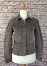 Oasis Smart Casual Autumn Beige Corduroy Fitted Jacket Coat Size 12