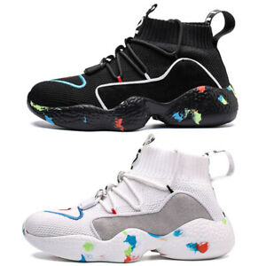 Men's Fashion Sneakers Outdoor Lightweight Sports Running Tennis High Top Shoes