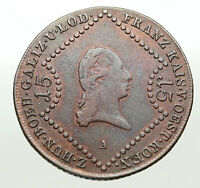 1807 AUSTRIA Emperor FRANZ Francis II OLD Antique 15Kreuzer Austrian Coin i84913