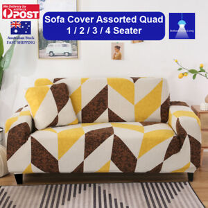 Sofa Cover Assorted Quad Couch Covers 1 2 3 4 Seater Lounge Slipcover Protector