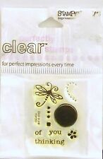 NEW STAMPENDOUS CLEAR STAMP MINI FLUTTER THINKING OF YOU DRAGONFLY SSC403