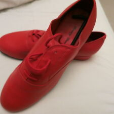 Red with Suede Soles Men's Ballroom Dance Shoes