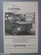 R&L Ex-Mag Advert: Lombank Vauxhall / Castrol Motor Oil Jaguar 3.8 Mk2