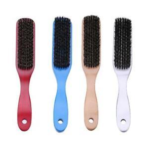 Wood Handle Hair Brush Hard Boar Bristle Hairdressing Styling Beard Comb