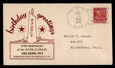DR WHO 1938 USS GUAM NAVAL SHIP SHANGHAI CHINA BIRTHDAY CACHET PREXIE  f50974