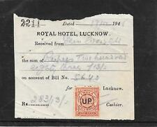INDIA 1948 REVENUE ROYAL HOTEL LUCKNOW