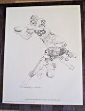 "1981 FOOTBALL PRINT DAVE LOGAN SHELL OIL 11"" x 14"" ART"