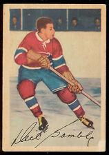 1953 54 PARKHURST HOCKEY #18 DICK GAMBLE VG MONTREAL CANADIENS CARD