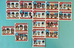 Lot of 18-1968 TOPPS American & National League Leaders-RBI,Pitch,Run,Era,Bat.SO