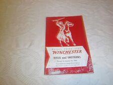 Vintage Winchester 1955 Winchester rifle and shotgun price list original