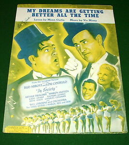 ABBOTT & COSTELLO on Sheet Music Cover MY DREAMS ARE GETTING BETTER ALL THE TIME
