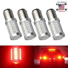 4Pcs Red 1157 BAY15D 33SMD LED Backup Reverse Brake Stop Turn Signal Light Bulbs