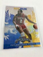 2013/14 Crusade Blue Refractor #92 MOSES MALONE 76ers - Hot Card