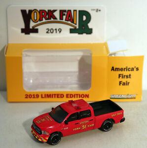 DTE 1/64 GREENLIGHT 2019 YORK FAIR DODGE RAM STATION 51 FIRE BRUSH TRUCK NIOB