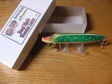 "Killer Baits Rusty Jessee Heddon Style 8"" Musky Glasseye Vamp in Green Lady Bug"